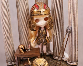 Roombox Diorama Ancient Greek Dollhouse Blythe  Monster High Dal Pullip Lati Yellow Barbie Furniture Monster High Momoko