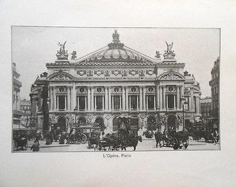Antique Paris Opera Illustration