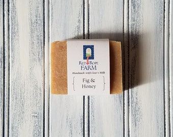 Sample of Fig with Honey Goat's Milk Soap, Cold Process, Extra-Moisturizing, 1 bar