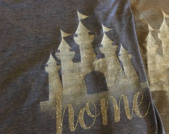 Blue castle tee 'Home' Disney inspired