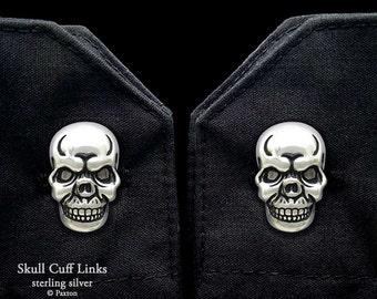 Skull Cuff Links Sterling Silver Skull Cufflinks