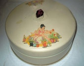Vintage 1930s tin Cake cover with bakelite handle