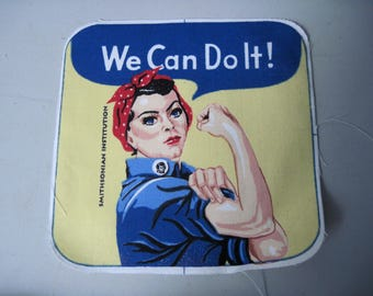 Vintage large Rosie Riveter We can do it Patch from Smithsonian institution