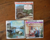 Vintage GAF Viewmaster reels The Night Before Christmas Maritime Provinces Old Sturbridge Village 1958 One pack unopened with booklets