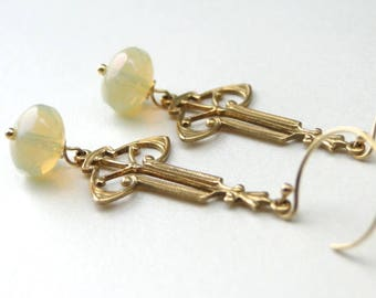 Jewelry, Earrings, Dangle Earrings, Retro Earrings, Mother's Day, Graduation Earrings, Mid Century Style Earrings, Vintage Earrings, Gift