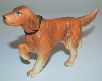 Golden Retriever dog figurine with leather collar - Setter - Japan collectible