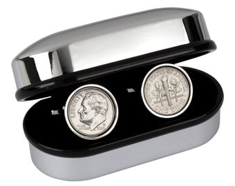 21st Anniversary Gift - Genuine US 1996 Coin Cufflinks - Presentation box included - 100% satisfaction - 3 day shipping option