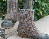 Wildling Knits Pair of Hand Knit Boot Spats Ready to Ship