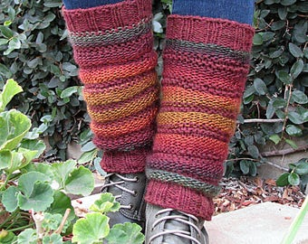 Hand Knit Boot Toppers Leg Warmers Slouchy Socks Yoga Socks Ready to Ship