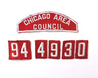 Chicago Boy Scouts Shoulder Patch Set