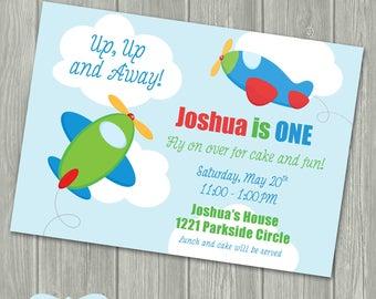 Airplane Birthday Party Invitation - Airplane Birthday - Airplane Party