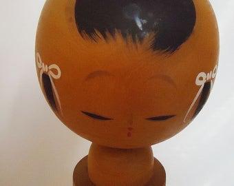 The Japanese Handmade Wooden Kokeshi Doll .40s.Personality