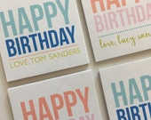 Birthday Gift Stickers, Square Stickers, Personalized Stickers Labels, Custom Stickers, Name Stickers, Family Sibling stickers,
