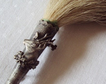 Antique French Hunters Hat Hackle with Deer Stag Wild Boars Hair Hat Brooch Hat Pin Chasseur Ideal Christmas Present Photo Prop