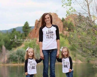 Mommy and me shirts Mommy daughter shirts mommy son shirts as long as im living ypur baby ill be mom daughter shirt sets photography