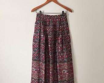 floral maxi skirt | woodland flowers skirt