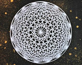 Original paper cut mandala - La Luna