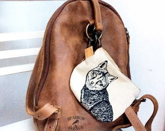 Zipper Pouch, Little Woodland Fox Bag, Clip On Pouch, Travel Case, Toiletry Kit