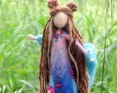 Needle felted fairy Art doll Fantasy doll Fairy Waldorf inspired doll Woolen Tree guardian doll Home decor