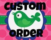 custom order for Marissa Becker