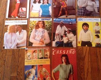 Vintage 1980's Bernat Knitting Magazine Lot Instructions Patterns