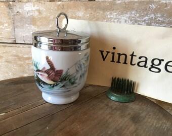 Vintage Porcelain Jam Jar England Birds