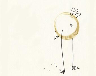 Illustration - Coffeedoodle No. 07 - Bird