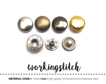 50sets 10mm SNAP spring button fastener vt2
