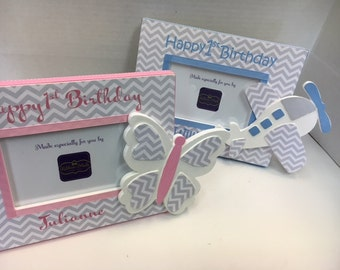 First Twin Birthday Frame Set