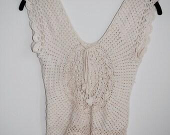 Cotton Hand-Crochet Vest