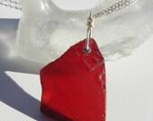 Rare Red Sea Glass Neckla...