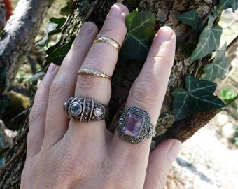 Victorian Edwardian Renaissance Style Vintage Handmade Ring, A Marie Antoinette Bauble, offered by RusticGypsyCreations