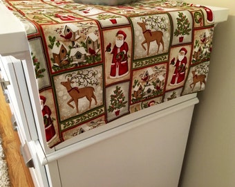 Christmas Santa Block Table Runner | Santa Christmas Table Runner | Holiday Decoration | Santa Table Runnner , Christmas Centerpiece