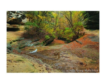"""Fine Art Color Landscape Photography of Starved Rock State Park in Illinois - """"LaSalle Canyon 2"""""""