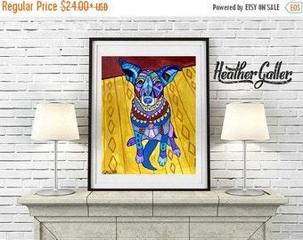50% Off Today- Basenji art dog  Art Print Poster by Heather Galler Modern Art Painting Heather Galler (HG157)