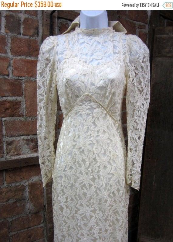 On Sale Victorian Wedding/  edwardian High Collar Victorian