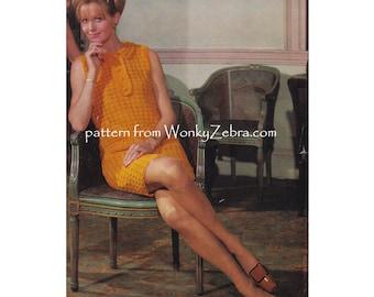 Crochet dress pattern Vintage sixties Crochet sheath dress mother daughter sizes Pattern PDF 940 from WonkyZebra