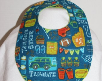 Tailgate State Flannel / Terry Cloth Bib