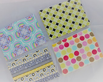Handmade Make Up Bags - SET OF FOUR - Cosmetic Handmade Bags - Ready To Ship - Womens Make Up Pouches - Cosmetic Pouches - Make Up Totes