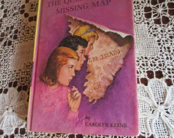 Vtg 1942, 1969 Nancy Drew #19 The Quest Of The Missing Map Hardcover Book, Carolyn Keene