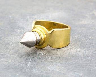 Single Spike METAL VIKING  Ring