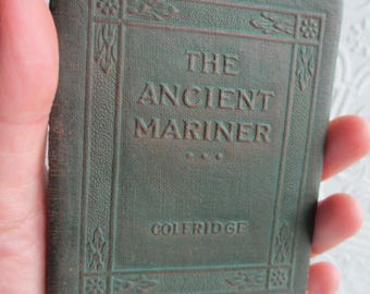 The Rime of THE ANCIENT MARINER by Samuel T. Coleridge Miniature Book Little Leather Library 1920s Antique Vintage