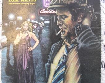 Vintage 1974 Tom Waits The Heart of Saturday Night LP Record Album 7E 1015 Original Rare Jazz Blues Spoken Word