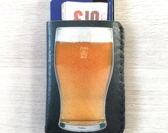 Pint of Beer Card Holder, Business Card Holder, Debit Card Holder, Oyster Card Holder, Pub Money Card Holder