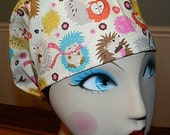 Hedgehogs  European Style  Surgical Scrub Cap with Toggle ONLY ONE AVAILABLE