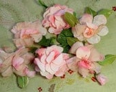 reserved Lovely  lot soft pink roses rose flowers vintage millinery flower rich shades corsage fall shades hat cloche bonnet dress 1950