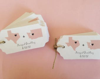State Tags, Custom, Welcome Tags, State Gift Tags,Hang Tags, Wedding Favor Tags, custom tags, say anything, texas, texas love, home state