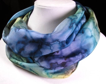 Scarf, Silk Scarf, Hand Painted Silk Scarf, watercolor scarf, Mother's Day Gift, Quintessence Silk - Watercolor Dream