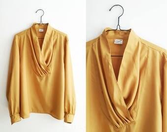 Mustard yellow blouse - 1980
