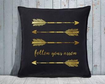 Custom Decorative Pillow | Throw Pillow | Custom Pillow | 20 x 20 Pillow Cover | Custom Pillow Cover | Personalized Pillow | follow arrow